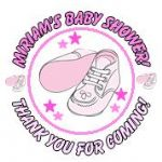 Personalised Pink Booties Baby Shower Party Stickers